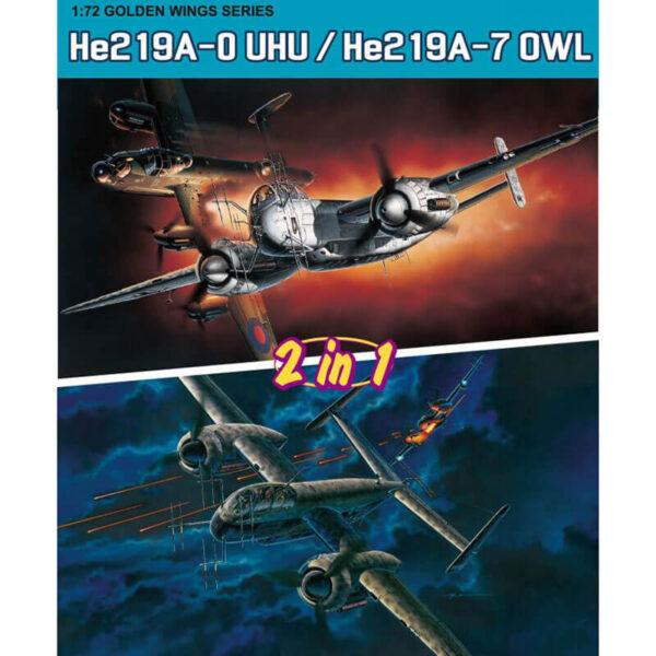 dragon 5121 Heinkel He219A-0 UHU / He219A-7 OWL 1/72 Kit en plástico para montar y pintar. Dos opciones de montaje