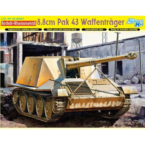 dragon 6728 Ardelt-Rheinmetall 8.8cm Pak 43 Waffentrager 1/35 Kit en plástico para montar y pintar. Incluye piezas en fotograbado y cadenas por eslabones individuales.