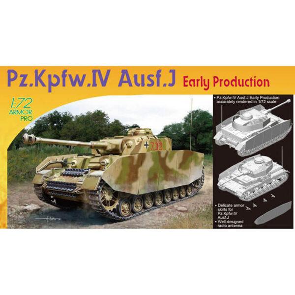 dragon 7409 Pz.Kpfw.IV Ausf.J Early Production 1/72 Kit en plástico para montar y pintar.