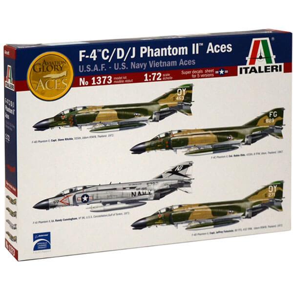 italeri 1373 McDonnell Douglas F-4 C / D / J PHANTOM II USAF-US Navy Vietnam ACES