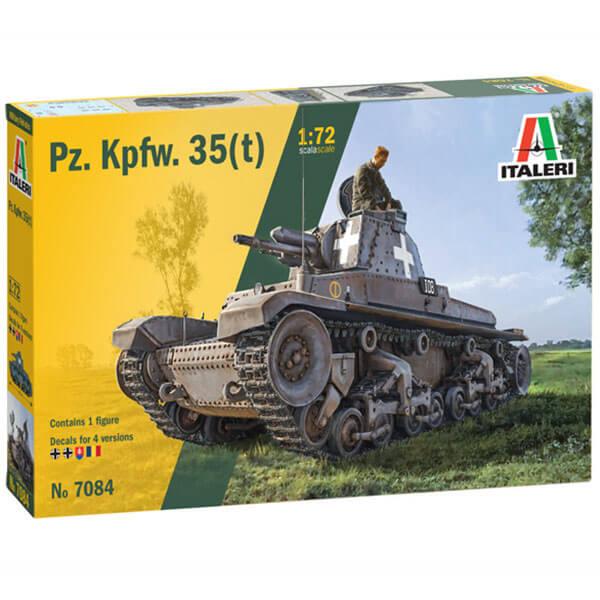 italeri 7084 German Pz. Kpfw. 35(t) 1/72 Kit en plástico para montar y pintar. Hoja de calcas con 4 decoraciones.