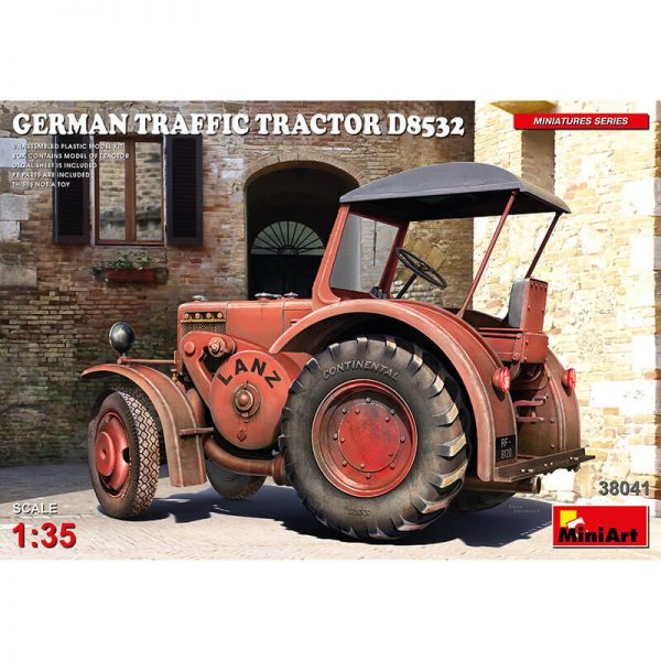 miniart 38041 German Traffic Tractor D8532 1/35 Kit en plástico para montar y pintar. Incluye piezas en fotograbado.