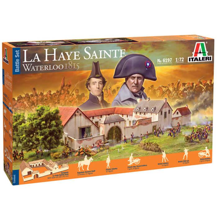 italeri 6197 La Haye Sainte Waterloo 1815 - Battle Set Kit en plástico y MDF para montar y pintar. Escala 1/72