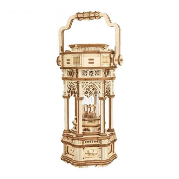 robotime rokr AMK61 Linterna Victoriana Caja de música ROKR Kit en madera para montar esta increíble Linterna medieval Tudor que se remonta al siglo XV. Montaje sin pegamento, únicamente ensamblando sus piezas.