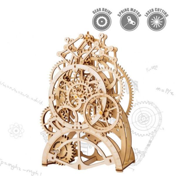 robotime rokr LK501 Pendulum Clock Reloj Pendular Mechanical Gears ROKR Este increíble puzzle 3D de ROBOTIME, es una fiel reproducción en madera de un reloj pendular, con estilo retro, de 166 piezas.