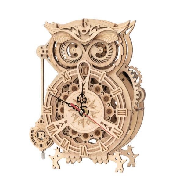 robotime rokr lk503 LK503 Owl Clock Reloj Búho Mechanical Gears ROKR Kit en madera para montar este increíble reloj con forma de Búho y totalmente funcional de 161 piezas. Montaje sin pegamento, únicamente ensamblando sus piezas.