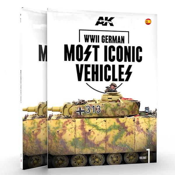 AK515 Los Vehículos Alemanes Más Icónicos Vol.1 de la Segunda Guerra Mundial Este es el primer volumen de los dos que contará con los vehículos más emblemáticos de las Waffen SS. En este libro nos enfocamos en carros medianos, cañones autopropulsados, semiorugas, carros blindados y vehículos.
