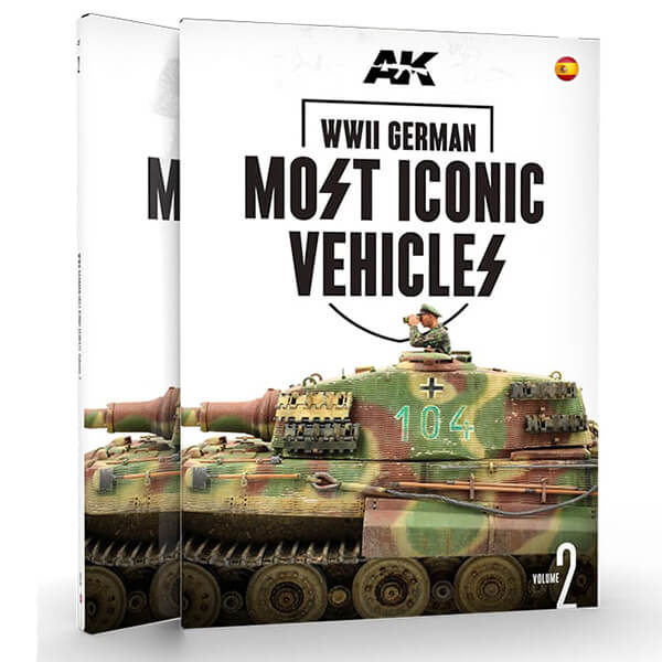 AK517 Los Vehículos Alemanes Más Icónicos Vol. 2 de la Segunda Guerra Mundial Este es el segundo volumen de los dos que presentan los vehículos más emblemáticos de las Waffen SS. Este libro se centra en los tanques pesados Tiger y King Tiger, y los medianos como Panther y Panzer IV y vehículos basados en su chasis.