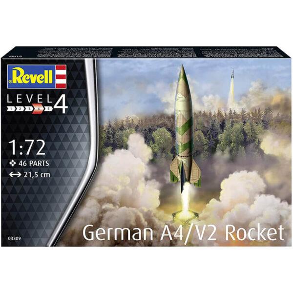 Revell 03309 German A4/V2 Rocket 1/72 Kit en plástico para montar y pintar. Tres opciones de decoración.