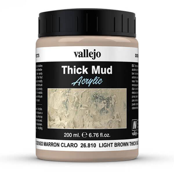 acrylicos vallejo 26810 Barro Denso Marrón Claro Light Brown Thick Mud Thick Mud Tono de lodo generado sobre terrenos alcalinos