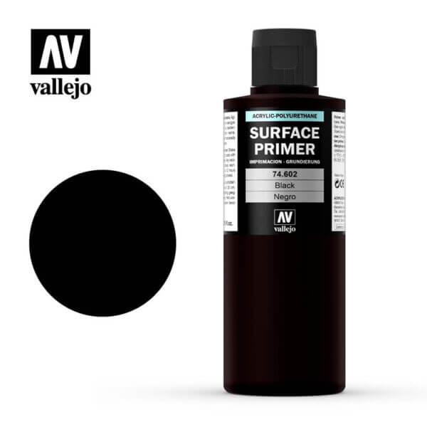 acrylicos vallejo AV 74602 Imprimación Negra Black Primer 200ml