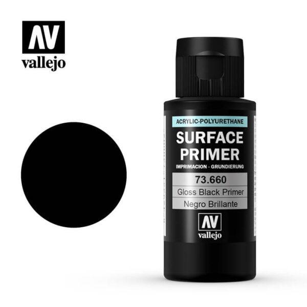 AV73660 Imprimación Negro Brillo 60ml Gloss Black PrimmerImprimación de acrílico-poliuretano a base de agua.