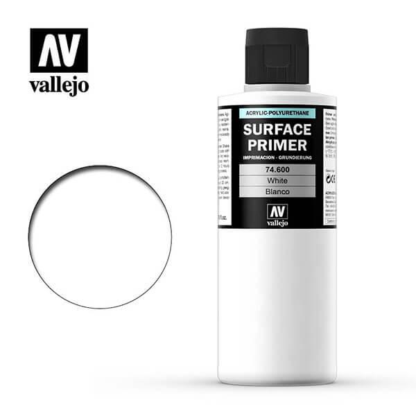 acrylicos vallejo AV 74600 Imprimación Blanco White Primer 200ml
