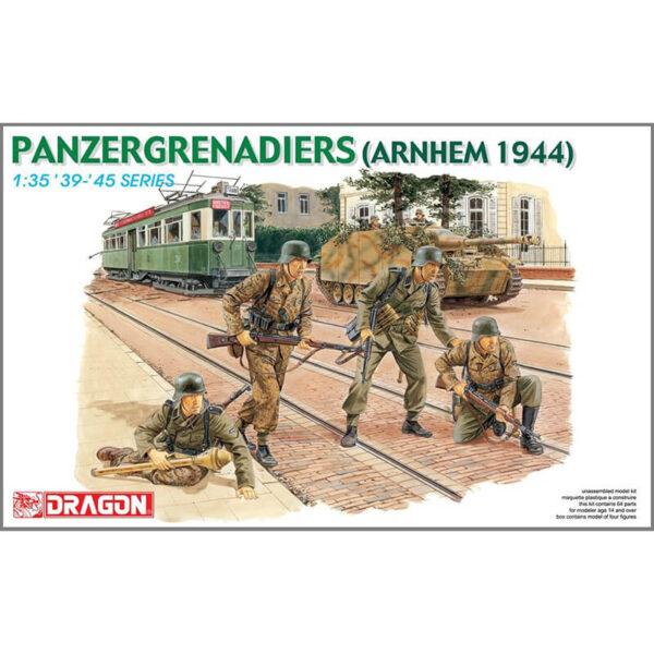 dragon 6161 1/35 Panzergrenadiers (Arnhem 1944) Kit en plástico para montar y pintar. Incluye 4 figuras de granaderos de las SS en Arnhem 1944. Piezas 64 Escala 1/35