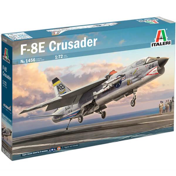 italeri 1456 Vought F-8 Crusader 1/72 Kit en plástico para montar y pintar. Hoja de calcas con 6 decoraciones