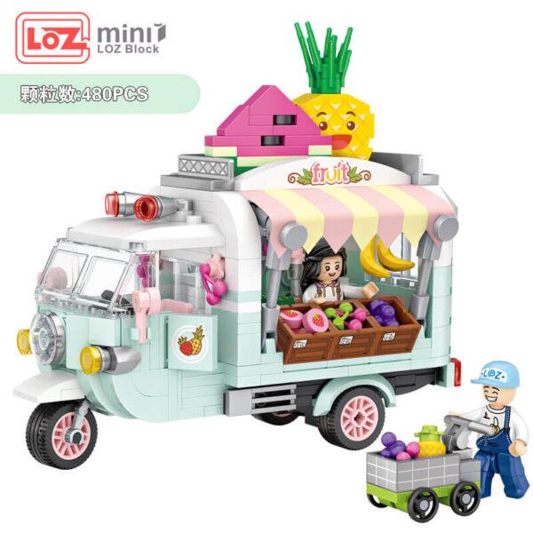 Loz Mini 1737 Food Fruit 480 pcs Diviértete mientras montas tu propia furgoneta heladería. Construye y colecciona con los bloques de Loz, tus vehículos favoritos.