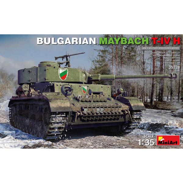 miniart 35328 Bulgarian Maybach T-IV H Military Miniatures Series Kit en plástico para montar y pintar. Incluye piezas en fotograbado y cadenas por eslabones individuales. Hoja de calcas con 8 decoraciones.