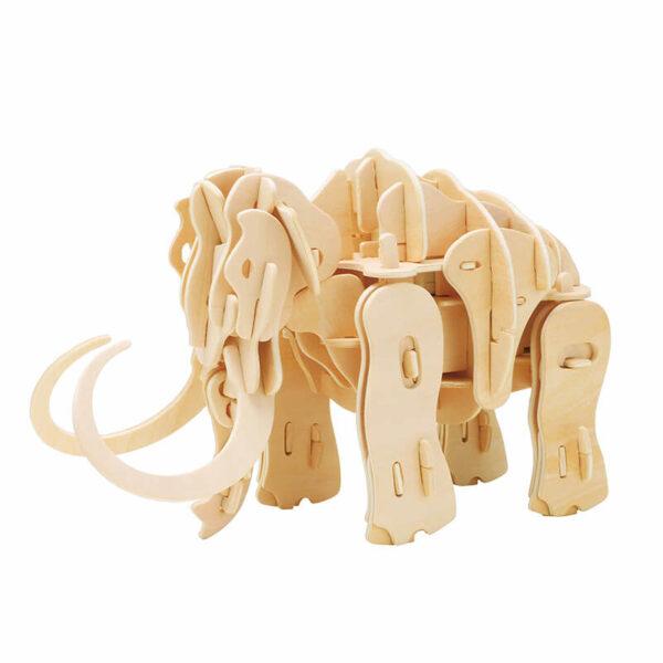 robotime rokr A400 Mammoth Sound Control Series Kit en madera cortada con laser de precisión para montar un Mammut con control por sonido de 87 piezas.