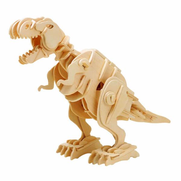 robotime rokr D210 Walking T-Rex Sound Control Series Kit en madera cortada con laser de precisión para montar un dinosaurio con control por sonido de 85 piezas.