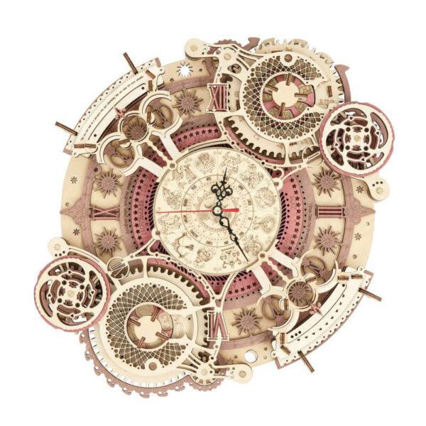 robotime rokr LC601 Reloj zodiacal de pared Mechanical Gears ROKR Kit en madera para montar este increíble reloj de pared totalmente funcional de 168 piezas.