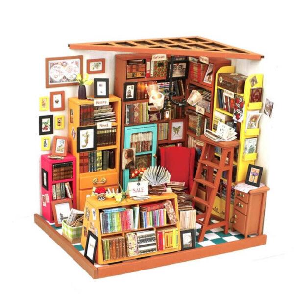 robotime rolife DG102 DIY Miniature House: Sam´s Study Las maquetas ROBOTIME son casas en miniatura que recrean con increíble detalle lugares de la vida diaria, a escala 1:24