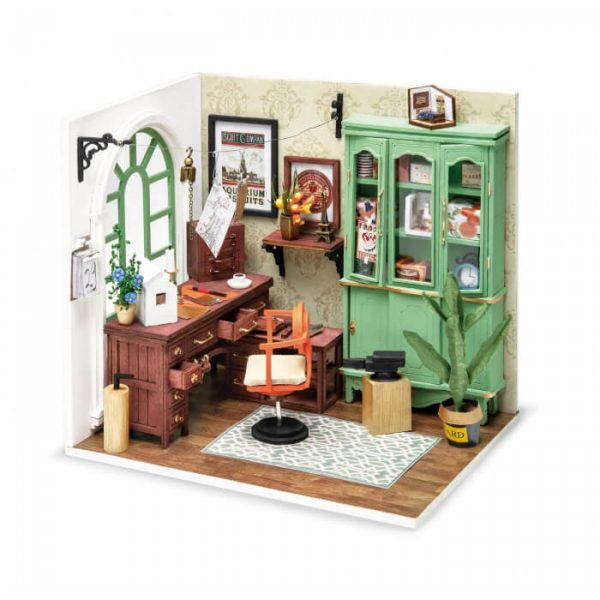 robotime rolife DGM07 Wonderful Life: Jimmy´s Studio Las maquetas ROBOTIME son casas en miniatura que recrean con increíble detalle lugares de la vida diaria, a escala 1:24