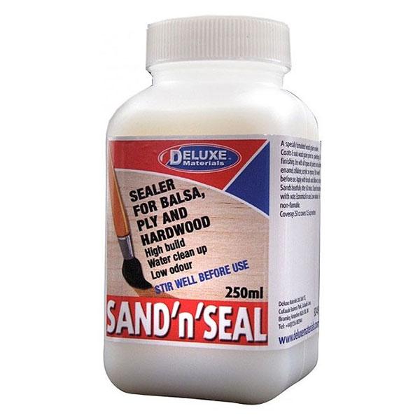 Deluxe Sand & Seal - Barniz tapaporos para madera Barniz tapaporos hidrosoluble. Fórmula sin olor. Recubre y sella la madera antes de barnizar y/o pintar y terminar.