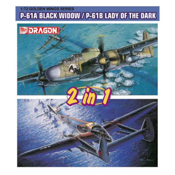 dragon 5122 P-61A Black Window/ P-61B Lady of the Dark Kit en plástico para montar y pintar. Se puede montar como P-61A o P-61B