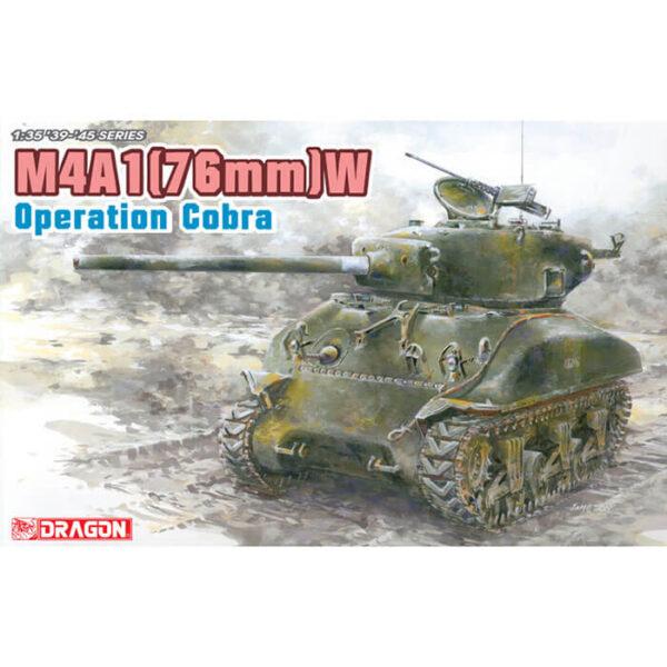 """dragon 6083 M4A1(76)W """"Operation Cobra"""" Kit en plástico para montar y pintar. Incluye 2 tipos de cadenas, normal y con Duckbill."""