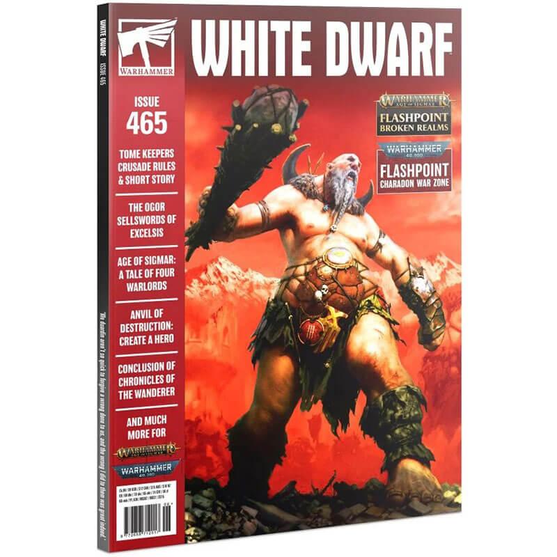 White Dwarf nº 465 revista en Inglés La revista White Dwarf esta centrada en el universo de los juegos de Games Workshop, Warhammer,Warhammer 40k, Age of Sigmar, Warhammer Underworld, etc.