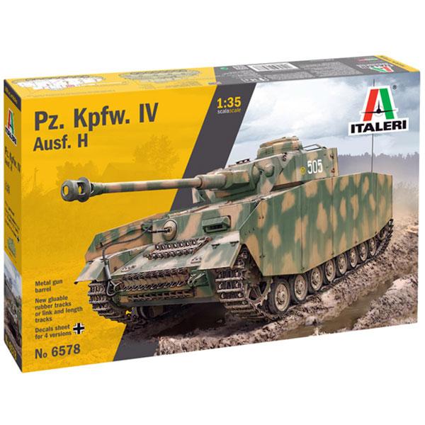 italeri 6578 Pz. Kpfw. IV Ausf. H Kit en plástico para montar y pintar. Incluye cañón en metal torneado