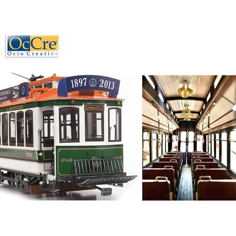 occre 53011 Tranvía Buenos Aires 1/24 Kit de montaje en madera y metal, de dificultad media.