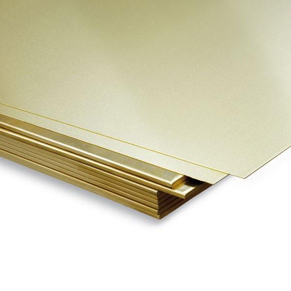 hirsch metales Planchas de Latón 400 x 200 ml Plancha de latón para modelismo.