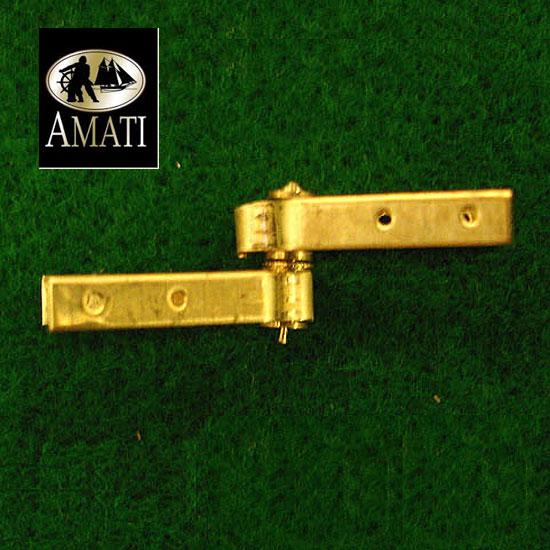 AMATI 4370 BISAGRA DE TIMÓN EN LATÓN