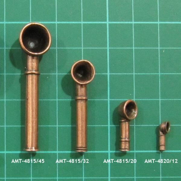 AMATI 4815 Ventilador en metal de fundición pavonado.