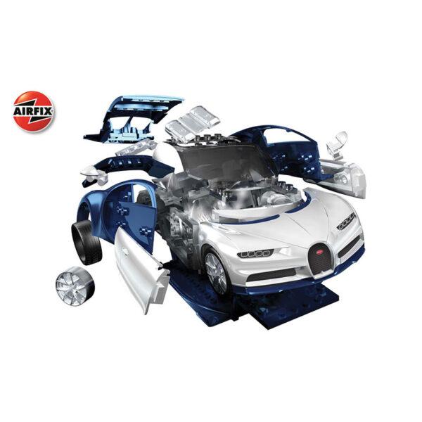 airfix j6044 Bugatti Chiron Quickbuild La nueva gama de modelos QUICK BUILD de Airfix se construyen usando bloques de plástico de ajuste fácil