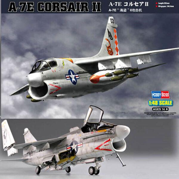 hobby boss 80345 A-7E Corsair II Kit en plástico para montar y pintar. Hoja de calcas con 2 decoraciones del US Navy