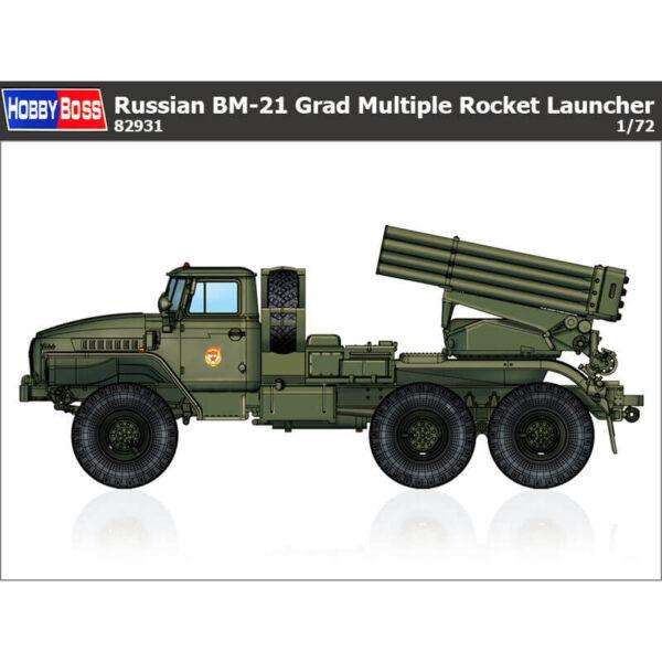 hobby boss 82931 Russian BM-21 Grad Multiple Rocket Launcher Kit en plástico para montar y pintar.