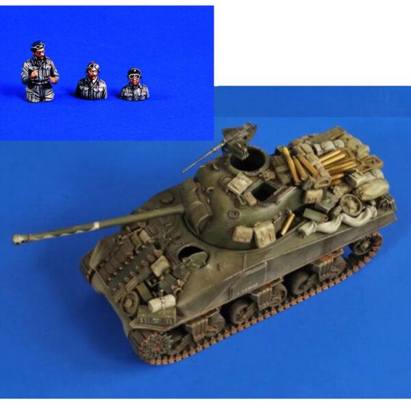 verlinden 2630 British Sherman Firefly Stowage - Ammo - Crew Kit de detallado en resina para montar y pintar. Incluye equipamiento, munición y tripulación para detallar cualquier maqueta de Sherman Británico en la 2ªGM. Escala 1/35