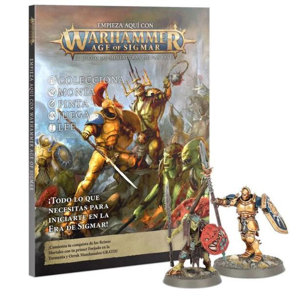 games workshop 80-16 Empieza aquí con Warhammer Age of Sigmar Warhammer Age of Sigmar es un juego de mesa de estrategia bélica de fantasía
