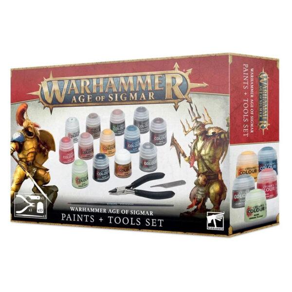Warhammer Age of Sigmar: Set de pinturas y herramientas Montar y pintar miniaturas es una forma divertida y emocionante de dedicarse a este hobby, y se vuelve más gratificante con el tiempo.