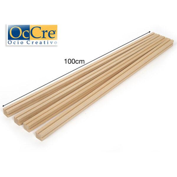 occre 19135 Molduras en madera para Vitrinas Conjunto de 4 perfiles de madera de tilo para construir una vitrina para exponer su modelo.