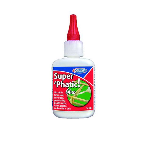 Deluxe ad21 Super Phatic Glue - Adhesivo alifático 50ml Adhesivo rápido para madera y otros materiales porosos. Mayor penetración y dureza que la cola blanca tradicional.