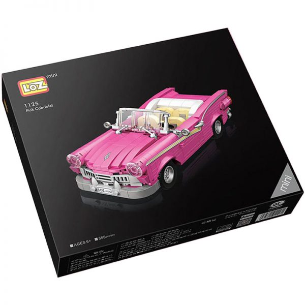 Loz Mini 1125 Pink Cabriolet 560 pcs Construye el clásico descapotable americano de los 60´ con todos los detalles.