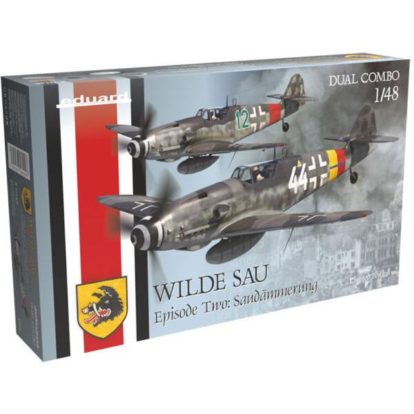 eduard 11148 WILDE SAU Episode Two: Saudämmerung Kit de edición limitada de los aviones alemanes de la Segunda Guerra Mundial Bf 109G-10 y Bf 109G-14 /AS en escala 1/48.