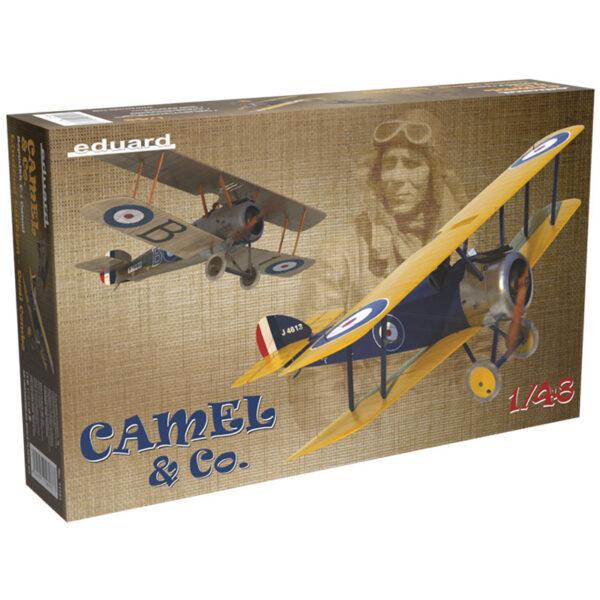 eduard 11151 Camel & Co. Dual Combo Kit de edición limitada, incluye piezas en fotograbado y mascarillas. Hoja de calcas con 10 decoraciones. Escala 1/48