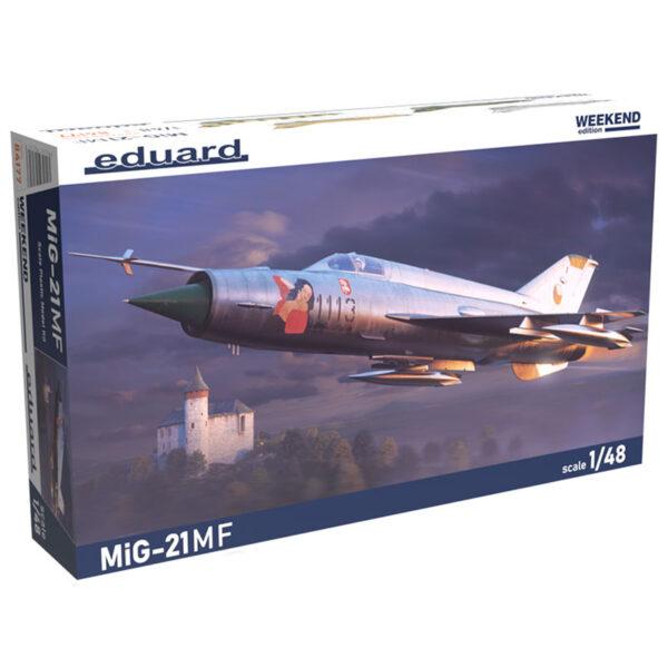 eduard 84177 1/48 MiG-21MF Weekend Edition Kit en plástico para montar y pintar. Hoja de calcas con 4 decoraciones.