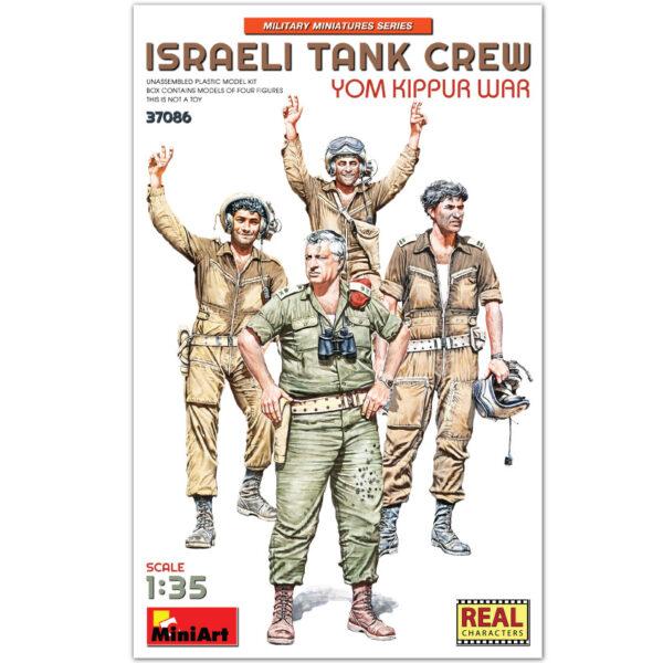 miniart 37086 1/35 Israeli Tank Crew Yom Kippur War Kit en plástico para montar y pintar. Incluye 4 figuras de tanquistas israelíes en la guerra del Yom Kippur 1973 .